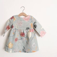 Girls Long Sleeve Dress Rustic Boho Girls Dress Boho Flower