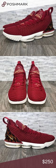 designer fashion ab019 62b67 Nike Lebron 16 King Team Red   Metallic Gold NWOT Nike Lebron 16 King Size  10.5 These are brand new without the box The LeBron 16  King  sports a rich  Team ...