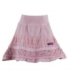sweater & slub knit trimmed velour skirt - Winter Best Seller!