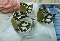 10pcs 8mm ancient bronze ring  c12322 by bjerkf on Etsy, $5.00