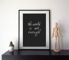 The world is not enough  Printable Graphics  Instant di HubLab