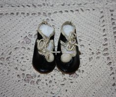 Antique Doll Shoes Germany Size 3