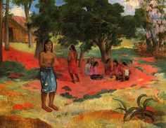 Paul Gauguin:Paru Paru Aka Whispered Words II paintings matisse posts Paru Paru Aka Whispered Words II Painting by Paul Gauguin Reproduction Famous Impressionist Paintings, Famous Landscape Paintings, Monet Paintings, Van Gogh Paintings, Chagall Paintings, Contemporary Paintings, Paul Gauguin, Gauguin Tahiti, Matisse Drawing