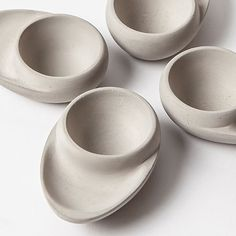 Set of 4 Concrete Egg Cups by Tove Adman | MONOQI