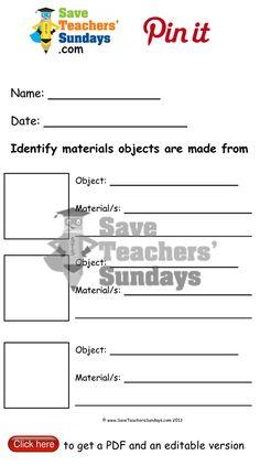 properties of materials worksheet go to. Black Bedroom Furniture Sets. Home Design Ideas