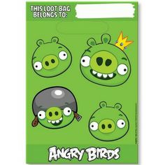 Angry Birds 8 Party Loot Bags
