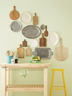 Platters and Cutting Boards - 7 Ways to Fill Up Your Walls on HGTV