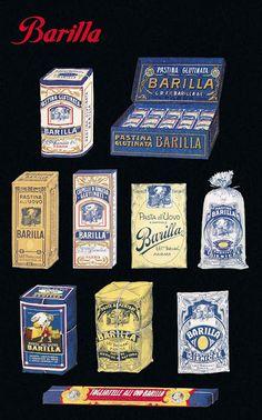 Sammeln Trademark Global Vintage Apple Collection 'Pasta Barilla' Canvas Art - 24 x 16 x 2 Unifying Template Free, Logo Template, Vintage Labels, Vintage Ads, Vintage Designs, Vintage Food, Retro Packaging, Packaging Design, Food Packaging