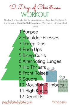 Fitness Friday | 12 Days of Christmas Workout | stephsbitebybite.com