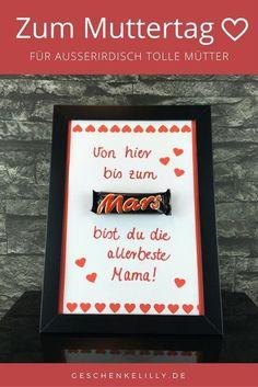 Eine schöne Geschenkidee zum Muttertag. Mit diesem Mars Geschenk wirst du die Augen deiner Mutter garantiert zum Leuchten bringen! Ein wirklich grandioses Muttertagsgeschenk.