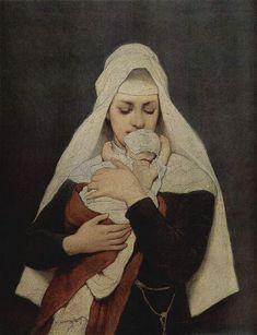ガブリエル・フォン・マックス 『捨て子』 (1870-80) Gabriel von Max - Findelkind