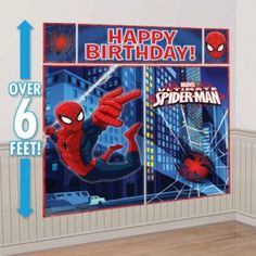 Spiderman Scene Setters Decoration Kit 5 Pieces x x x x x Spiderman Party Supplies, Kids Party Supplies, Superhero Party, Happy Birthday Parties, Happy Birthday Messages, Man Birthday, Party Wall Decorations, Halloween Decorations, Shopping