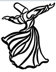 semazen scroll saw kil testere motif Persian Calligraphy, Islamic Calligraphy, Calligraphy Art, Prayer Tattoo, Mystic Symbols, Whirling Dervish, Leather Tooling Patterns, Turkish Design, Islamic Paintings