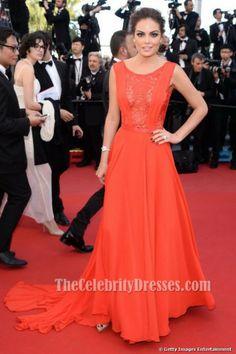 Ximena Navarrete Red Prom Dress 66th Cannes Film Festival Red Carpet