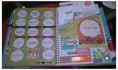 smashbook page ... I will put pictures on top of the circles and flip?