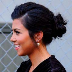 Kourtney Kardashian hairstyle