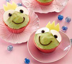 Froschkönig-Muffins für Kinder