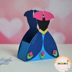 Caixa vestido Anna - Frozen