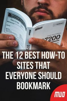 The 12 Best How-To Sites That Everyone Should Bookmark – Technology Updated Ideas Life Hacks Websites, Hacking Websites, Learning Websites, Educational Websites, Cool Websites, Video Websites, Educational Crafts, Life Hacks Computer, Computer Internet