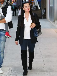 Realiy star: Kyle Richards stepped out on Monday for dinner with husband Mauricio Umansky ...