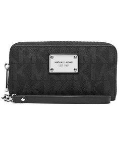 f766a530df4a Women's Clutch Handbags - Michael Kors Jet Set Item Large Coin  Multifunction Phone Case Black *
