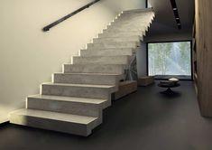 Escalier En B Atilde Copy Ton Kt Staircase Stairs Architecture Modern Concrete Staircase, Staircase Railings, Concrete Steps, Staircase Design, Stairways, Beton Design, Stairs Architecture, Interior Architecture, Escalier Design