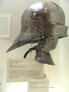 Sallet_helmet,_Southern_Germany,_1480-1490_-_Higgins_Armory_Museum