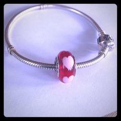 Pandora Heart Charm Pandora Heart Charm ❤️Charm only- Bracelet NOT included❤️ make an offer. Pandora Jewelry Bracelets