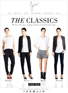 JOIE | THE CLASSICS - We live the easy styling of these essential Joie tops.