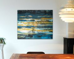 Enormous Abstract painting  Monet's Water lilies  door RonaldHunter, $449,00