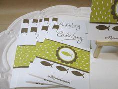 Stampin´Up!Handgemachte Einladungskarten Kommunion 10 Karten & 10 Umschläge