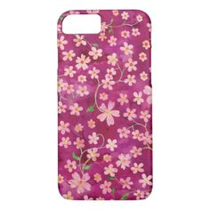 #trendy - #Pink Floral Pattern iPhone 7 or ANY Device Case