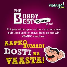This come with ample opportunities to try your luck! Keep watching this space and get a chance to win fantabulous Vaango vouchers! The winners will be announced in the coming i. Don't forget to like, share and tag your friends! *T&C Apply Friendship Day Special, Keep Watching, Watch This Space, Forget, How To Apply