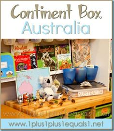 Australia Continent Box ~ ideas, printables, resources, and more! From 1+1+1=1