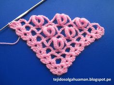 punto para tejer chal a crochet con punto rococo paso a paso