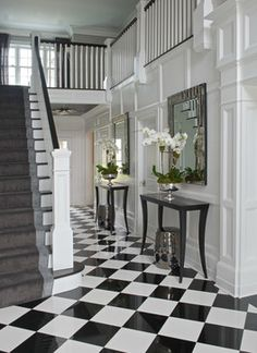 Greenwich Residence - Magazine Spread - transitional - Entry - Other Metro - Tiffany Eastman Interiors, LLC
