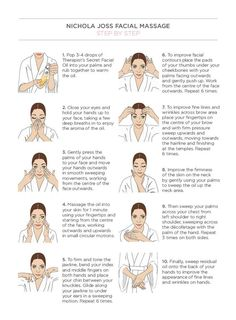 Massagem facial para reduzir rugas