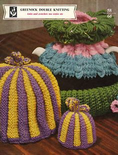 Vintage Tea Cosies Cosy Knitting & Crochet Pattern. I have one of these vintage pieces with a lady in porcelain adorning the top so the body of the tea cosy is like a gown!
