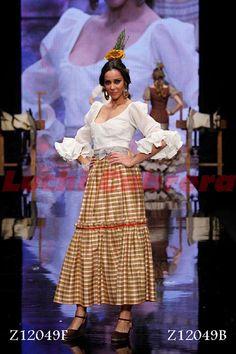vestido de flamenca rociero