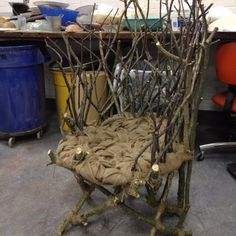 Awesome, nonfunctional chair made out of branches