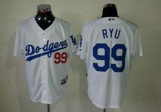 09b6d9992 Dodgers #99 Hyun-Jin Ryu White Cool Base Embroidered MLB Jersey!$21.50USD