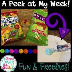 A Peek at My Week: The First Days of School {FREEBIE}