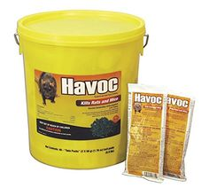 NEOGEN RODENTICIDE 40-Pack Havoc Mouse and Rat Killer, 50gm > pellets are ready to use can kill rats and mice in a single night s feeding All-weather bait Check more at http://farmgardensuperstore.com/product/neogen-rodenticide-40-pack-havoc-mouse-and-rat-killer-50gm/