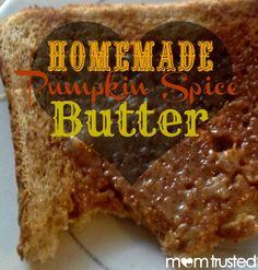 Homemade Pumpkin Spice Butter