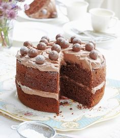 Malteser cake. Easy malted chocolate cake.