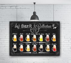 This piece of art features Chalkboard Kitchen Art is crafted for years of enjoyment. A custom made, unique Kitchen Chalkboard Beverage Beer