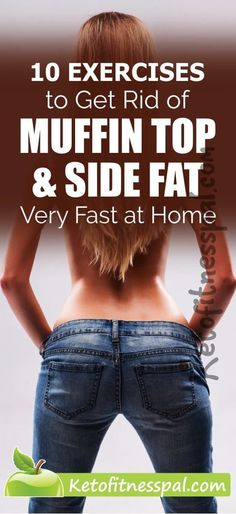 Searching for ways to get rid of muffin top and side fat, then try out these super-easy exercise and make muffin tops and belly fat a story in the past. Side Fat Workout, Slim Waist Workout, Plank Workout, Workout Plans, Workout Gear, Muffin Top Exercises, Body Exercises, Armpit Fat, Hips Dips
