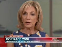 """NBC's Andrea Mitchell says what everybody already knows: Donald Trump Is """"Completely Uneducated About Any Part Of The World"""". Mitchell: """"When He Doesn't Know Something, He Just Changes The Subject, Makes It All About Himself""""."""