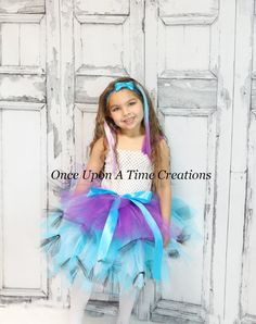 Madeline Hatter Tutu Dress - Ever After High Inspired - Birthday Outfit, Photo Prop, Halloween Costume - Girls Size 2T 3 T 4T 5 6 7 8 10 12
