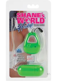 www.touchingbodymindandsoul.com - Shanes World Hookup Remote Cntrl Green Perfectly sized remote control vibrating egg. Designed for secret play or foreplay, with or without a partnerSilky smooth Satin Finish. Whisper quiet, discreet, and powerfulPush button remote control with LED light. - See more at: http://www.touchingbodymindandsoul.com/details/144392/shanes-world-hookup-remote-cntrl-green#sthash.C1996dHb.dpuf  $31.99